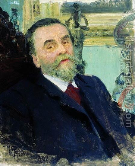 Portrait Of Ivan Zvetkov 1907 by Ilya Efimovich Efimovich Repin - Reproduction Oil Painting