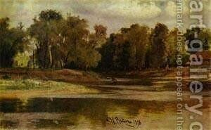 River Bank 1876 by Ilya Efimovich Efimovich Repin - Reproduction Oil Painting