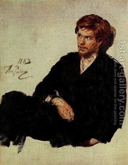 Student Nihilist 1883 by Ilya Efimovich Efimovich Repin - Reproduction Oil Painting