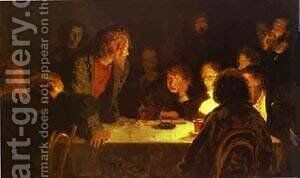 The Revolutionary Meeting 1883 by Ilya Efimovich Efimovich Repin - Reproduction Oil Painting