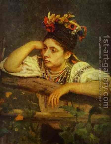 Ukranian Girl 1875 by Ilya Efimovich Efimovich Repin - Reproduction Oil Painting