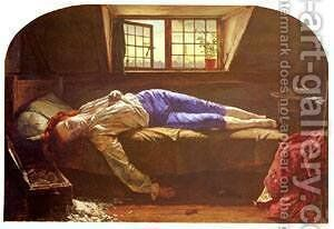 The Death of Chatterton by Henry Wallis - Reproduction Oil Painting