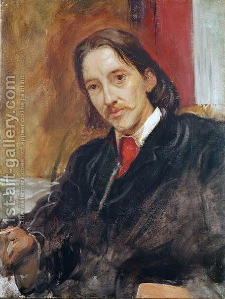 Portrait of Robert Louis Stevenson by Sir William Blake Richmond - Reproduction Oil Painting