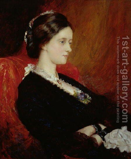 Portrait of The Hon Mrs Emily Meynell Ingram by Sir William Blake Richmond - Reproduction Oil Painting