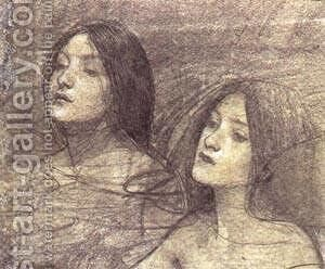 Hylas And The Nymphs Study by Alexei Alexeivich Harlamoff - Reproduction Oil Painting