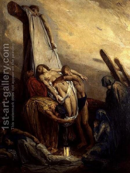 The Deposition by Charles De Sousy Ricketts - Reproduction Oil Painting