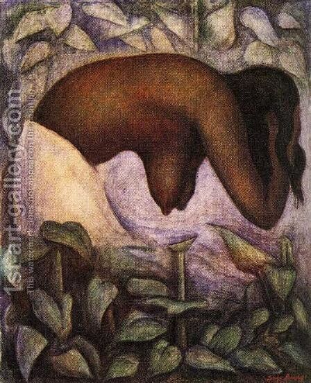 Bather of Tehuantepec (Banista de Tehuantepec) 1923 by Diego Rivera - Reproduction Oil Painting