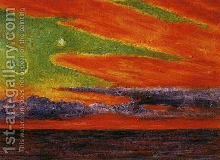 Evening Twilight at Acapulco (Atardecer en Acapulco) 1956 by Diego Rivera - Reproduction Oil Painting