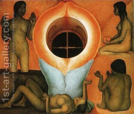 Maturation (Maduracion) 1926 to 27 by Diego Rivera - Reproduction Oil Painting