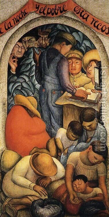 Night of the Poor 1928 by Diego Rivera - Reproduction Oil Painting