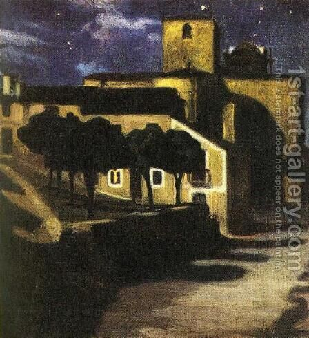 Night Scene in Avila 1907 by Diego Rivera - Reproduction Oil Painting