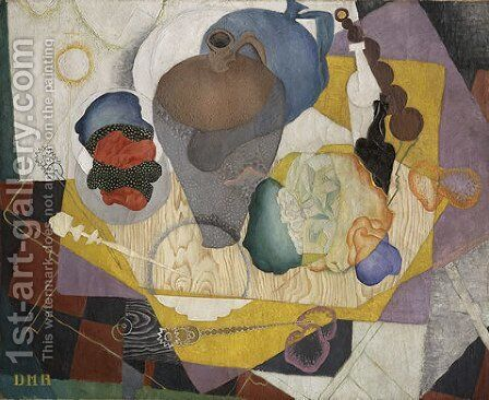 No 9 Spanish Style Life 1915 by Diego Rivera - Reproduction Oil Painting