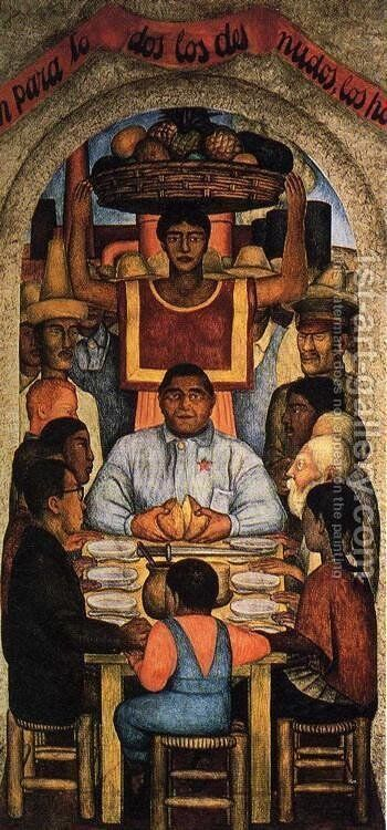 Our Bread 1928 by Diego Rivera - Reproduction Oil Painting