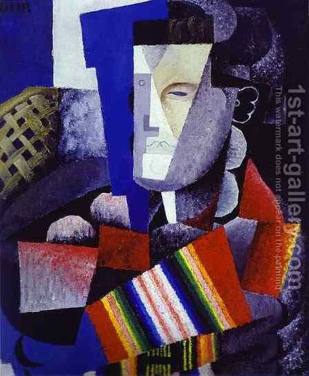 Portrait of Martin Luis Guzman 1915 by Diego Rivera - Reproduction Oil Painting