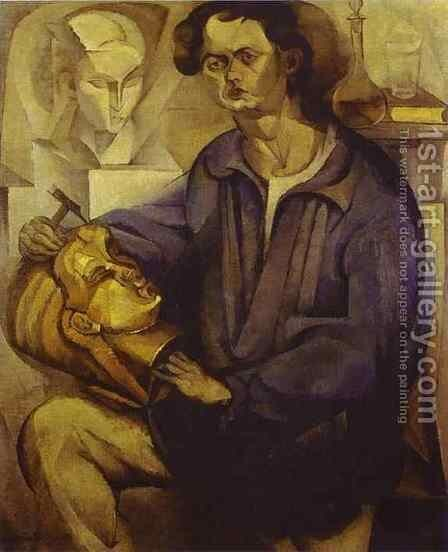 Portrait of Oscar Miestchaninoff 1913 by Diego Rivera - Reproduction Oil Painting