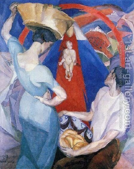 The Adoration of the Virgin 1913 by Diego Rivera - Reproduction Oil Painting