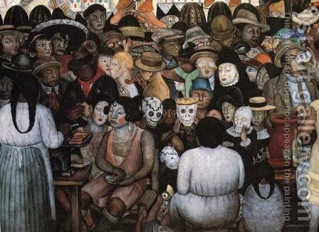 The Day of the Dead (Bottom Detail) 1924 by Diego Rivera - Reproduction Oil Painting