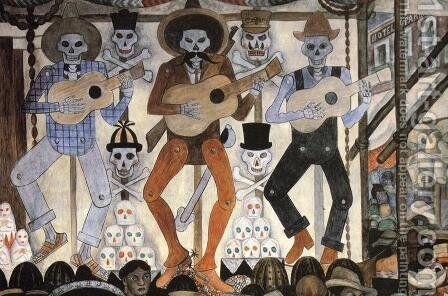 The Day of the Dead (Detail) 1924 by Diego Rivera - Reproduction Oil Painting