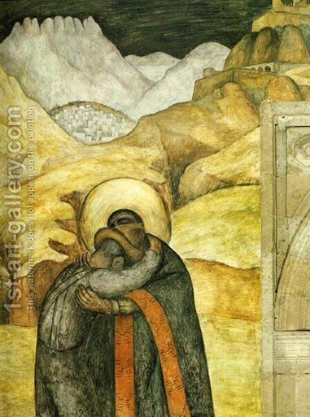 The Embrace 1923 by Diego Rivera - Reproduction Oil Painting