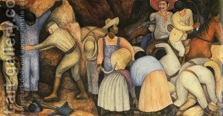 The Exploiters 1926 by Diego Rivera - Reproduction Oil Painting