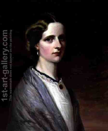 Portrait of Emily Mrs Meynell Ingram by Edward R. Taylor - Reproduction Oil Painting