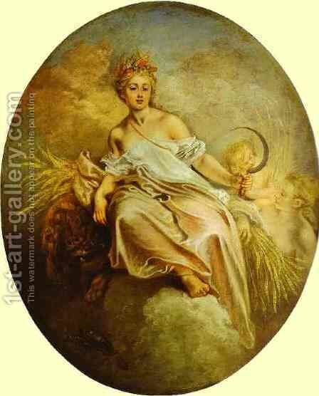 Ceres (Summer) 1712 by Jean-Antoine Watteau - Reproduction Oil Painting
