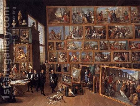 The Art Collection of Archduke Leopold Wilhelm in Brussels 1651 by David The Younger Teniers - Reproduction Oil Painting