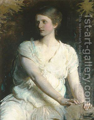 Young Woman 1898 by Abbott Handerson Thayer - Reproduction Oil Painting