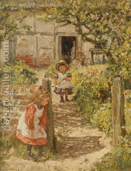 Hide and Seek by Charles James Theriat - Reproduction Oil Painting