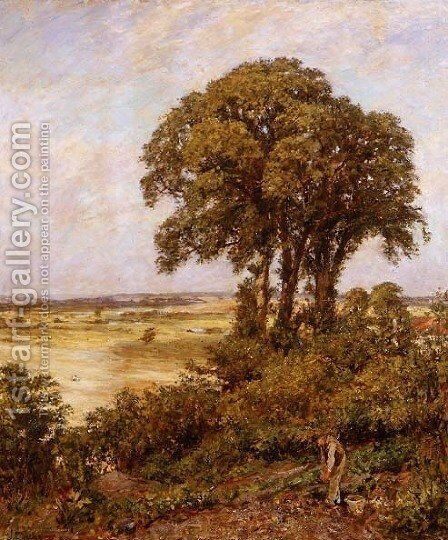 Landscape in Sussex 1898 by Charles James Theriat - Reproduction Oil Painting