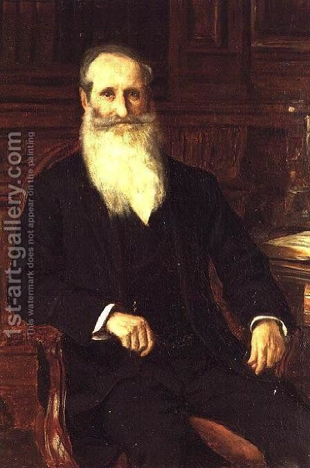 Portrait of Sir Isaac Holden by Charles James Theriat - Reproduction Oil Painting