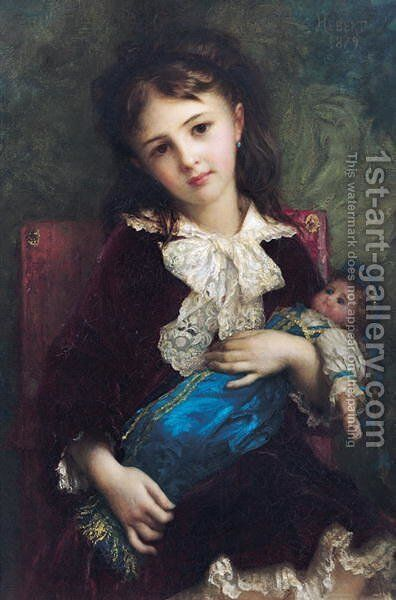 Portrait of Catherine du Bouchage 1879 by Antoine Auguste Ernest Hebert - Reproduction Oil Painting