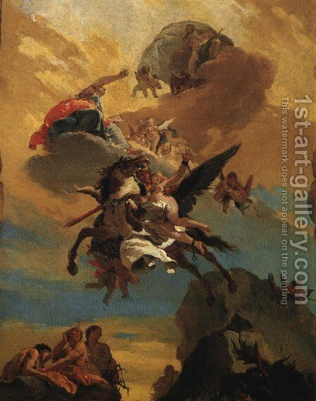 Perseus and Andromeda 1730 by Giovanni Battista Tiepolo - Reproduction Oil Painting