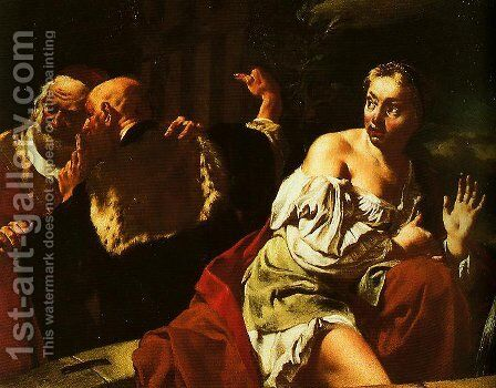 Susanna and the Elders by Giovanni Battista Tiepolo - Reproduction Oil Painting