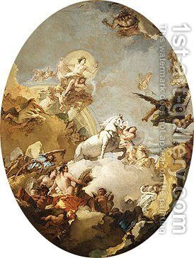 The Chariot of Aurora by Giovanni Battista Tiepolo - Reproduction Oil Painting