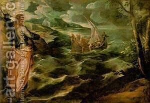 Christ At The Sea Of Galilee 1575-80 by Jacopo Tintoretto (Robusti) - Reproduction Oil Painting