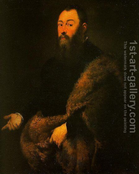Portrait of a Gentleman in a Fur by Jacopo Tintoretto (Robusti) - Reproduction Oil Painting