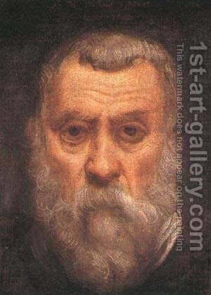 Self Portrait Detail 1588 by Jacopo Tintoretto (Robusti) - Reproduction Oil Painting