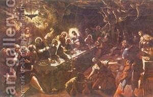 The Last Supper 1592-94 2 by Jacopo Tintoretto (Robusti) - Reproduction Oil Painting
