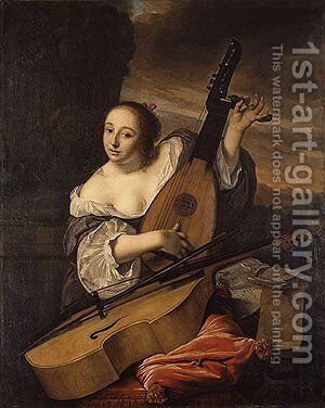 The Musician 1662 by Bartholomeus Van Der Helst - Reproduction Oil Painting