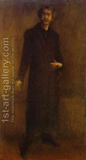 Brown And Gold (Self Portrait) 1895-1900 by James Abbott McNeill Whistler - Reproduction Oil Painting