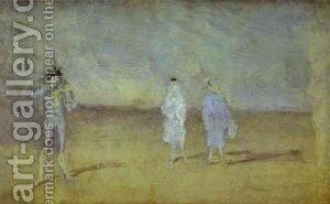 Harmony In Blue The Duet 1878 by James Abbott McNeill Whistler - Reproduction Oil Painting