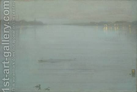 Nocturne Blue And Silver Cremorne Lights 1872 by James Abbott McNeill Whistler - Reproduction Oil Painting