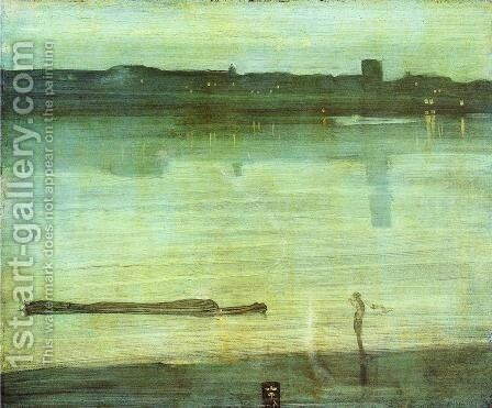 Nocturne In Blue And Green Chelsea 1870 by James Abbott McNeill Whistler - Reproduction Oil Painting