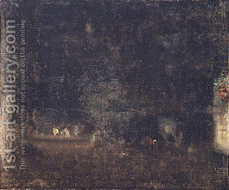 Nocturne in Green and Gold 1877 by James Abbott McNeill Whistler - Reproduction Oil Painting
