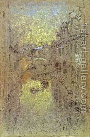 Winter Evening 1880 by James Abbott McNeill Whistler - Reproduction Oil Painting
