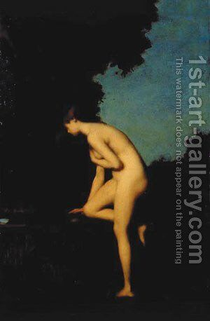 La Fontaine by Jean-Jacques Henner - Reproduction Oil Painting