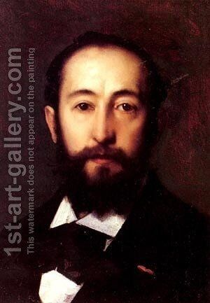 Portrait DHomme by Jean-Jacques Henner - Reproduction Oil Painting