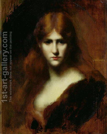Portrait of a Woman 2 by Jean-Jacques Henner - Reproduction Oil Painting