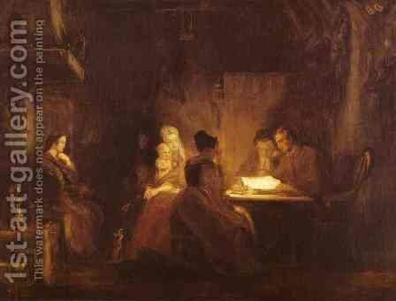 The Cotters Saturday Night 1837 by Sir David Wilkie - Reproduction Oil Painting